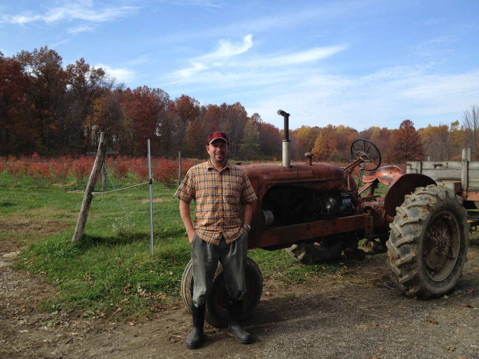 Rows of Daniel's berry and vegetable fields, and his 1940s (still working) tractor in Peninsula, Ohio.